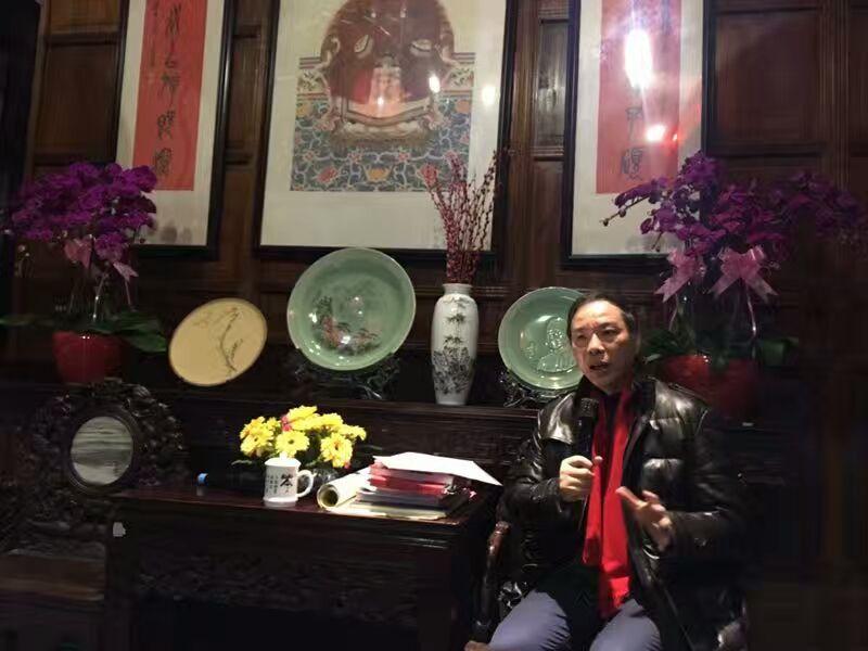 """吴越先生在吴昌硕纪念馆主讲""""吴昌硕先生辉煌的晚年"""""""